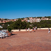 Sardinia, Italy: Porto Cervo, the famous touristic location. Main square at summer.