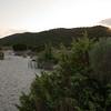 Sardinia, Italy: Costa Smeralda, sunset at Pevero beach. Tramonto sulla spiaggia del Pevero.