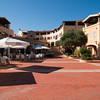 Sardinia, Italy:  boutiques and restaurants in Porto Cervo Marina at summer.