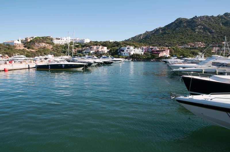 Sardinia, Italy: Harbour of Porto Cervo Marina at summer.