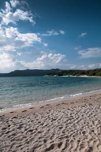 Sardinia, Italy: Costa Smeralda. La Celvia beach at spring.
