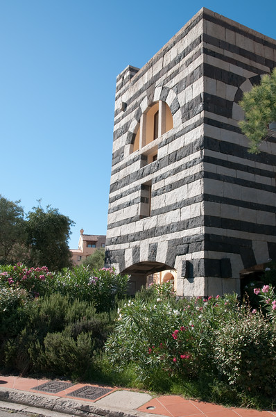 Sardinia, Italy:  buildings in Porto Cervo Marina at summer.