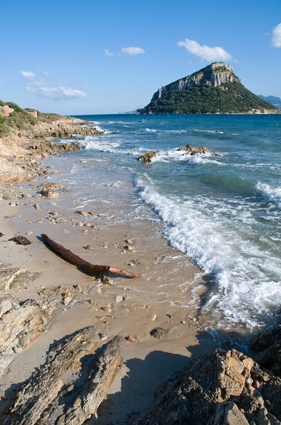 Sardinia, italy: Cala Moresca bay and Figarolo island, near Golfo Aranci
