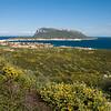 Sardinia, Italy: view of Golfo Aranci city, Capo Figari promontory and Figarolo island. - Sardegna, veduta panoramica di Golfo Aranci, Capo Figari e l'isolotto di Figarolo.