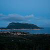 Sardinia, Italy, Golfo Aranci: cityscape at sunset - (ITA) Sardegna, Golfo Aranci, veduta della città al tramonto