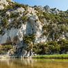 Sardinia, Italy: Cliff and pond in Cala Luna, Orosei Gulf  - Sardegna, parete rocciosa e stagno di Cala Luna, spiaggia nel nel Golfo di Orosei