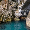 Sardinia, entrance at Bue Marino Grottoes, Gulf of Orosei. [IT] Grotte del Bue Marino, Dorgali, Golfo di Orosei.