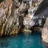 Sardinia, entrance at Bue Marino Grottoes, Gulf of Orosei. [IT] Grotte del Bue Marino, Dorgali, Golfo di Orosei.