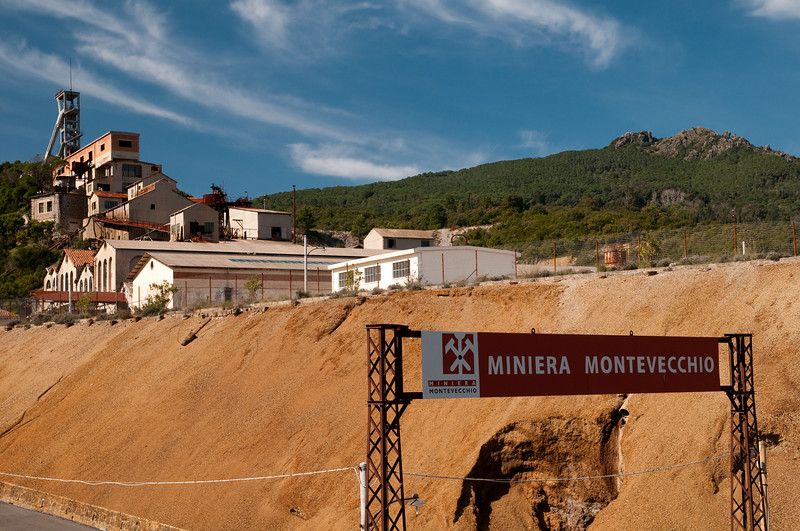 Sardinia, Italy: Montevecchio old mine, near Guspini. During the past century, Montevecchio village was one of the most important mining center of Sardinia.