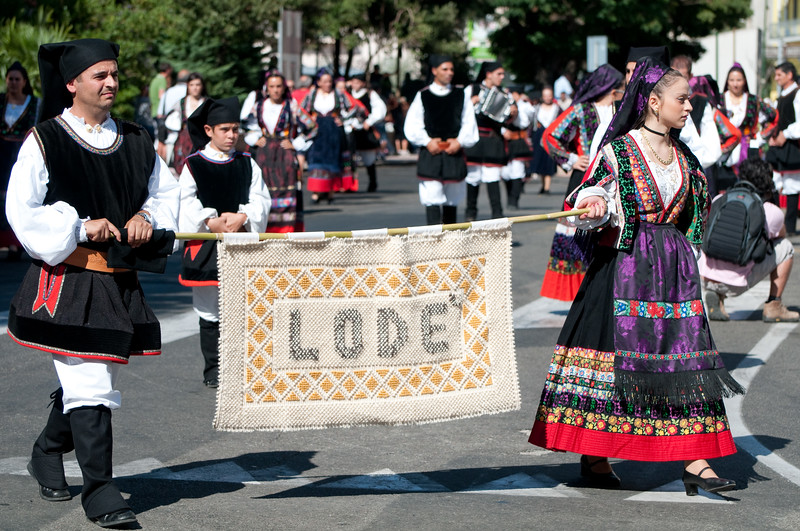 Nuoro, Sardinia, 28.08.2011 - 111^ Sagra del Redentore. Traditional sardinian dress show. - Sfilata dei costumi tradizionali della Sardegna.