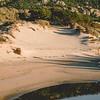 Sardinia, italy: sand dunes in Capo Ceraso beach, near Olbia. Film Fuji PRO400H replica.