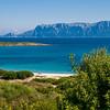 Sardinia, Italy: Olbia, Cala Banana / Nodu Pianu beach. Tavolara Island on background. Spiaggia di Cala banana / Nodu Pianu. Sullo sfondo, l'isola di Tavolara.
