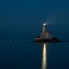 Sardinia, Italy: Lighthouse in the Gulf of Olbia. Winter season.