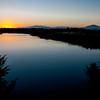 Olbia, tramonto in Località Lido del Sole, a sud della citta'.