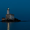 Sardinia, Italy: Lighthouse in the Gulf of Olbia. Winter season.