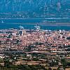 Sardinia, Italy: city of Olbia, panoramic view from Monte Pino Mountain.