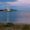 Sardinia, Italy: Lightouse of Olbia's harbour at sunset