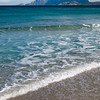 Sardinia, Italy: Olbia, windy day at Pittulongu beach / spiaggia di Pittulongu, nei pressi di Olbia