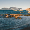 Olbia: Capo Ceraso. Sullo sfondo, Capo Figari. Elaborazione pellicola Fuji PRO400H replica.