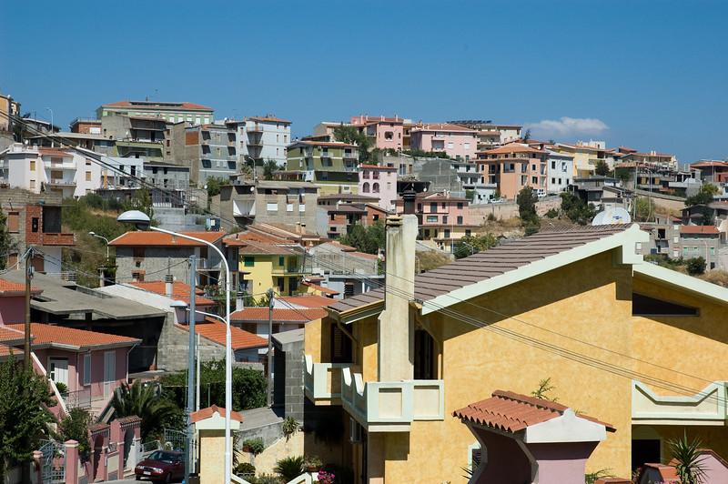 Sardinia, Italy: Orgoloso, Barbagia. Cityscape.