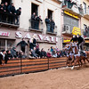 "Oristano (Italy), 21.02.2012 - Sartiglia festival (Gremio dei Falegnami), the most important carnival of Sardinia. The ""pariglie"" race."