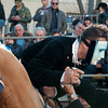 "Oristano (Italy), 21.02.2012 - Sartiglia festival (Gremio dei Falegnami), the most important carnival of Sardinia. A horseman  rewarded after he took the star in the ""Corsa alla stella"" race."