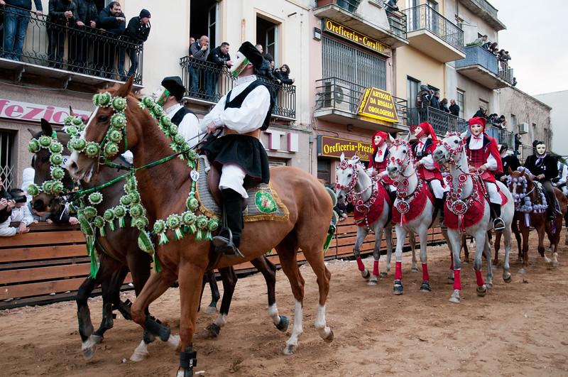 Oristano (Italy), 21.02.2012 - Sartiglia festival (Gremio dei Falegnami), the most important carnival of Sardinia.