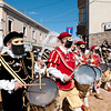 Oristano (Italy), 21.02.2012 - Sartiglia festival (Gremio dei Falegnami), the most important carnival of Sardinia. Drummers playing during the show.