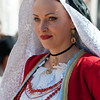 Oristano (Italy), 21.02.2012 - Sartiglia festival (Gremio dei Falegnami), the most important carnival of Sardinia. A woman dressed with traditional clothing.