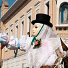 "Oristano (Italy), 21.02.2012 - Sartiglia festival (Gremio dei Falegnami), the most important carnival of Sardinia. The ""Su Componidori"", leader of the show."