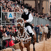 "Oristano (Italy), 21.02.2012 - Sartiglia festival (Gremio dei Falegnami), the most important carnival of Sardinia. The ""su Segundu"" horseman tries to pick up the star with ""su stoccu"", a particular wooden sword."