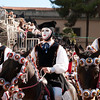 Oristano (Italy), 21.02.2012 - Sartiglia festival (Gremio dei Falegnami), the most important carnival of Sardinia. Cavaliers wearing mask and traditional carnival dress.