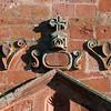 Sedilo: santuario di San Costantino, detto anche Santu Antinu. Particolare della facciata esterna.
