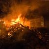 Ottana: Festa di Sant'Antonio Abate. Il fuoco viene acceso e si da' inizio all'antico rituale propiziatorio per l'annata agraria.