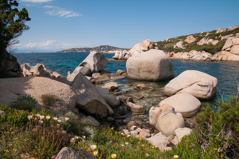 Sardinia, Italy: Palau, big rocks at Punta Sardegna bay - Palau, Punta Sardegna
