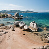 Sardinia, Italy: Palau. beach at Porto Faro bay. Palau, Porto Faro, bellissima insenatura affacciata sull'arcipelago della Maddalena