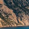 Dettaglio della scogliera sull'isola di Tavolara.