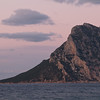 Sunset at Cala Ginepro bay, near San Teodoro, north Sardinia.