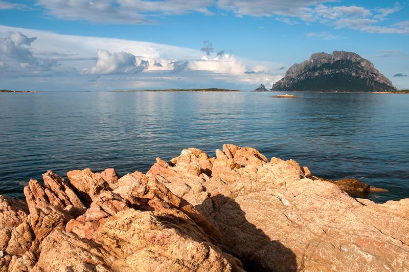 Sardinia, Italy: Tavolara island viewed from Porto San Paolo Beach