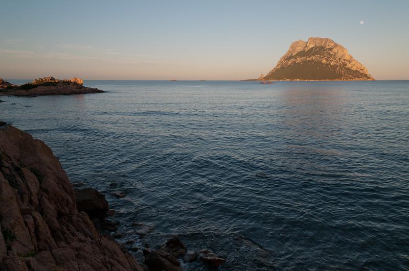 Tavolara island at sunset, north-eastern coast of Sardinia.