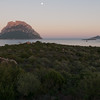 Tavolara island at sunset, north-eastern coast of Sardinia.