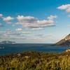Veduta dell'isola di Tavolara e sullo sfondo Capo Figari. Foto realizzata da Punta Molara, nei pressi di Porto San Paolo.