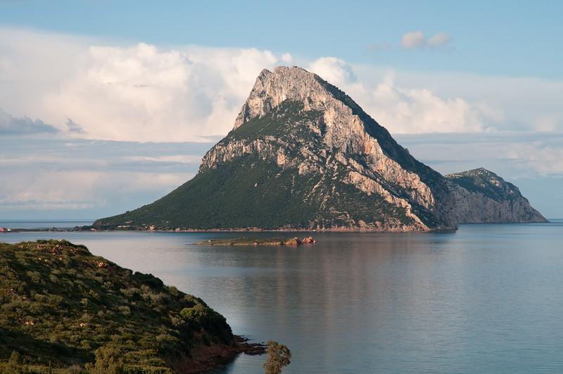 Sardinia, Italy: Tavolara island viewed from Porto Taverna bay