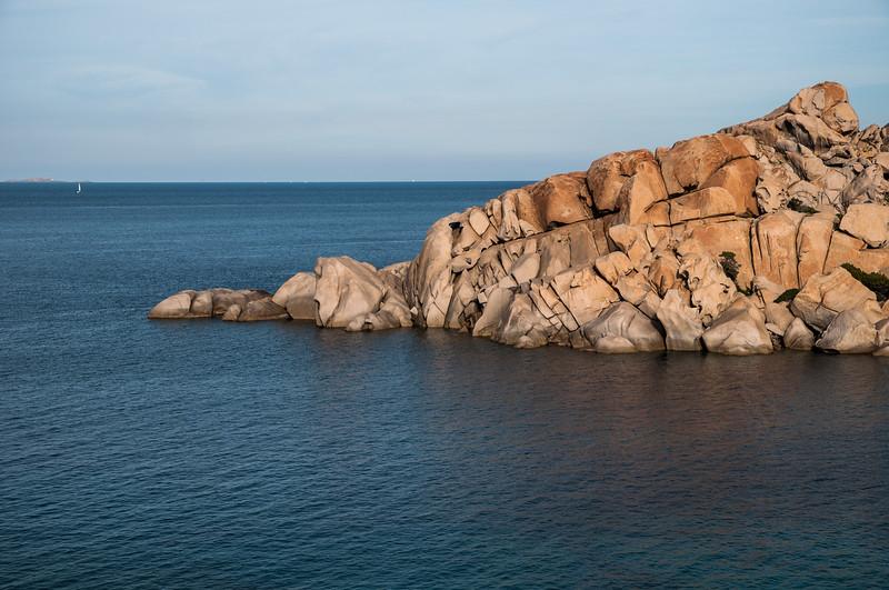 Sardinia, Italy: cliffs of Capo Testa bay at sunset  -  Sardegna: Santa Teresa Gallura, le rocce di  Capo Testa al tramonto