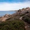 Sardinia, Italy: cliffs of Capo Testa at sunset.