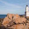 Sardinia, Italy: Lighthouse of Capo Testa Bay at sunset - Santa Teresa Gallura, il faro di Capo Testa al tramonto
