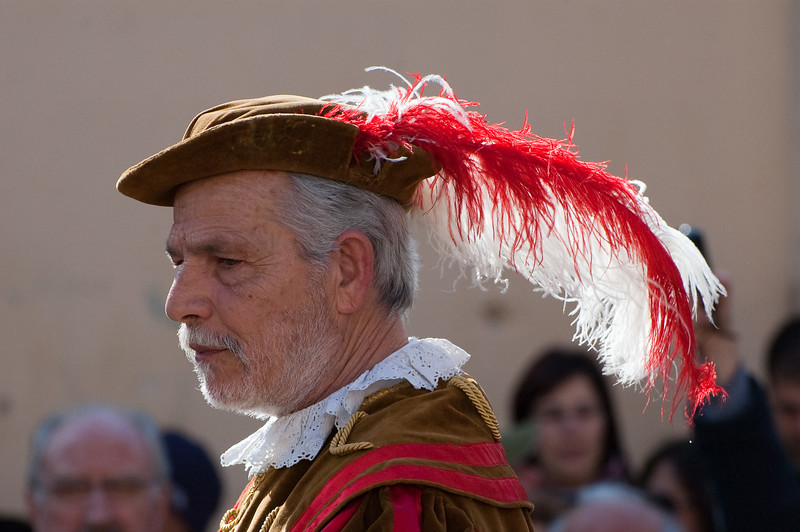 Sardinia, Italy: Oristano, Sartiglia festival. The Herald read the announcement that give start at the event.