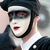 Sardinia, Italy: Oristano, Sartiglia festival. Traditional carnival masks.