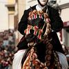 """Sardinia, Italy: Oristano, Sartiglia festival. A moment of the """"Palio della Stella"""" horse race. - Un momento della Corsa alla Stella organizzata dal Gremio dei Contadini di San Giuseppe."""