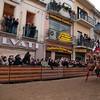 """Sardinia, Italy: Oristano, Sartiglia festival: the """"Pariglie"""" race.  - La corsa delle pariglie."""
